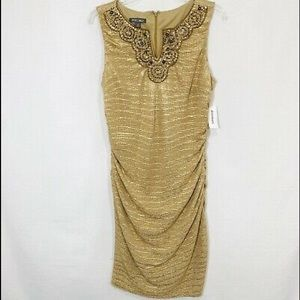 ROZ & ALI NWT GOLD DRESS size 14W
